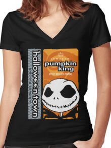 "Halloween Town ""Pumpkin King"" - Pumpkin Beer Women's Fitted V-Neck T-Shirt"