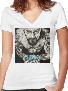 Walter White Blue Ice Women's Fitted V-Neck T-Shirt