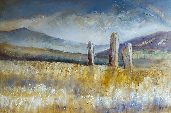 Standing Stones, Arran by Sue Nichol