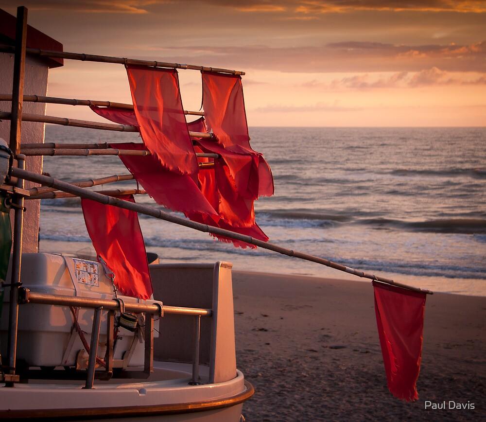 Flags on a boat by Paul Davis