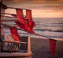 Flags on a boat by Paul Davis