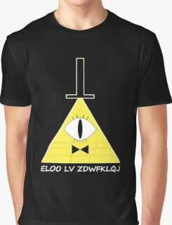 Gravity Falls Bill Cipher Message - White Letters Version Graphic T-Shirt