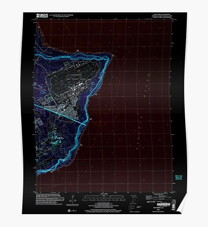 USGS TOPO Map Guam Pati Point 462407 2000 24000 Inverted Poster