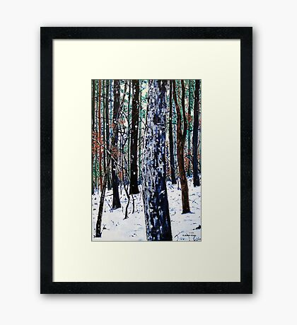 'Woods in Snow' Framed Print
