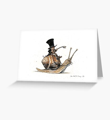 The Tiny Mini-Minstrel Greeting Card