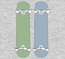 Green and Blue Skateboards  Kids Clothes