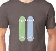 Green and Blue Skateboards  Unisex T-Shirt