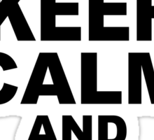 Keep Calm and Freefall Sticker