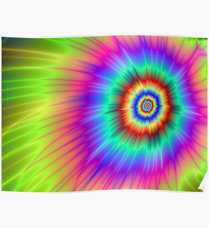 Tie dye Color Explosion Poster