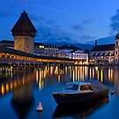 Night time Luzern Swiss by arthit somsakul