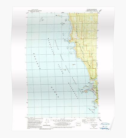 USGS Topo Map Washington State WA La Push 241834 1982 24000 Poster