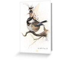 The Sulky Faery on the Chickadee Greeting Card