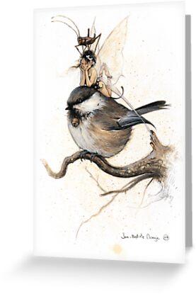 The Sulky Faery on the Chickadee by JBMonge