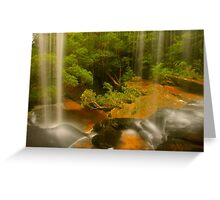 Lower Somersby Falls .. a view sublime Greeting Card