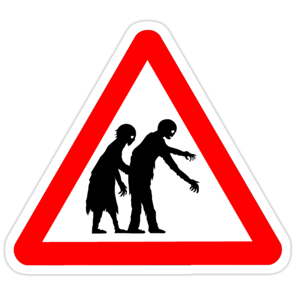 Caution Zombies! by Hypnogoria