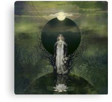 Moonlight Lotus Canvas Print
