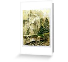 A digital painting of Wressle Castle, Yorkshire, England Greeting Card