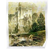A digital painting of Wressle Castle, Yorkshire, England Poster