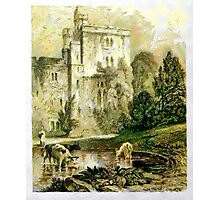 A digital painting of Wressle Castle, Yorkshire, England Photographic Print