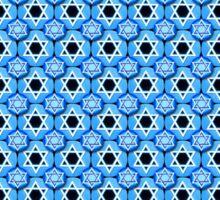 Mazel Tov! Star of David Design in Blue and White Sticker