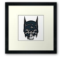 Batman Skull Face Grunge Framed Print