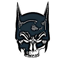 Batman Skull Face Grunge Photographic Print