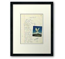 grunge VINTAGE POEM BY TIA KNIGHT Blackbird Framed Print
