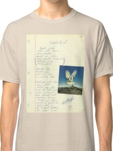 grunge VINTAGE POEM BY TIA KNIGHT Blackbird Classic T-Shirt