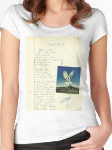 grunge VINTAGE POEM BY TIA KNIGHT Blackbird Women's Fitted Scoop T-Shirt