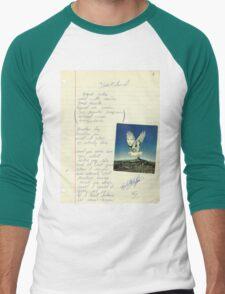 grunge VINTAGE POEM BY TIA KNIGHT Blackbird Men's Baseball ¾ T-Shirt