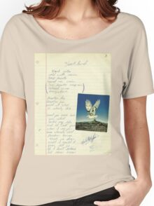 grunge VINTAGE POEM BY TIA KNIGHT Blackbird Women's Relaxed Fit T-Shirt