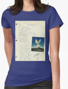 grunge VINTAGE POEM BY TIA KNIGHT Blackbird Womens Fitted T-Shirt