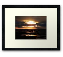 Golden Sunset Delight Framed Print