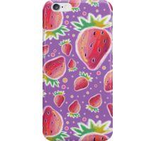Chalk Pastel Strawberry Pattern iPhone Case/Skin
