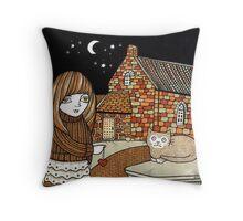 Belle & Binky (Barra Kirk) Throw Pillow
