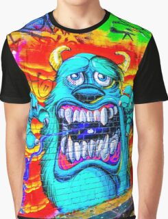 Monsters in the Grafitti Filled Hosier Lane - Melbourne, Victoria Graphic T-Shirt