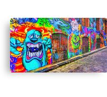 Monsters in the Grafitti Filled Hosier Lane - Melbourne, Victoria Metal Print