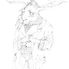 crazy hare with a grenade by blindsociety