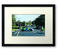 Air Ambulance in the road. Framed Print