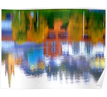 Autumn Reflections On The River Foyle Poster