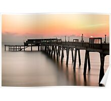 Pier at Sunrise Poster