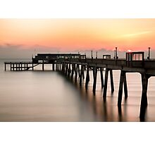 Pier at Sunrise Photographic Print