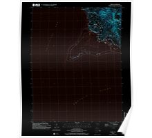 USGS TOPO Map Guam Merizo 462400 2000 24000 Inverted Poster