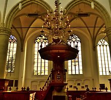The Pulpit at Saint Catharijnekerk, Brielle by Jacqueline van Zetten
