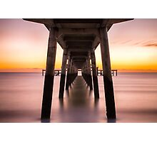 Symmetry Under The Pier Photographic Print