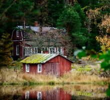 October by the sea, an old summerhouse typical for Finland by marina63