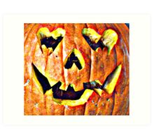 Love Crazed Pumpkin Art Print