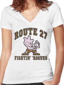 Route 27 Fightin' 'Rogues Women's Fitted V-Neck T-Shirt
