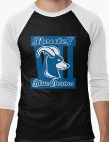 Route 7 Blue Dooms Men's Baseball ¾ T-Shirt