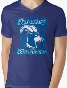 Route 7 Blue Dooms Mens V-Neck T-Shirt